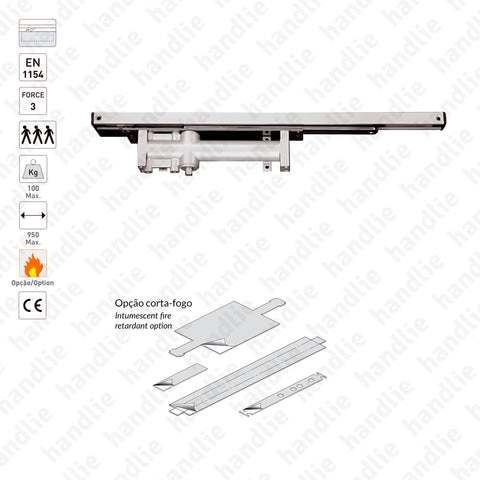ML.21.801 - Concealed overhead door closer for single action doors