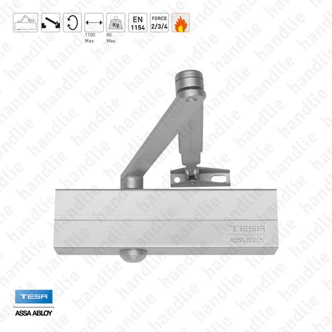 M.CT.2500.34.PL - Overhead door closer with link arm - TESA - Force 2/3/4 / 80Kg / 1100mm | TESA