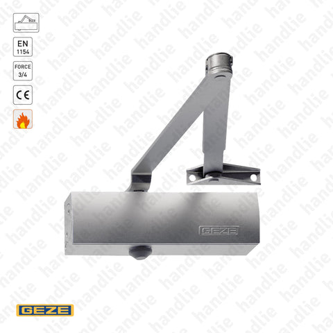 TS.1500 - Overhead door closer with link arm - GEZE - Force 3/4 - 80Kg | GEZE