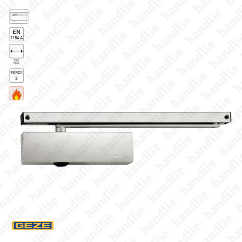 "TS.3000N3 C - ""TS WOOD"" - Overhead door closer with guide rail - GEZE -  Force 3 - 60Kg 