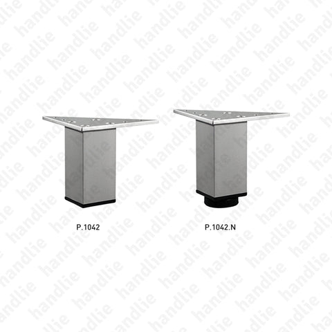 P.1042 / P.1042.N - Feet for furniture tube 38x38mm - Aluminium