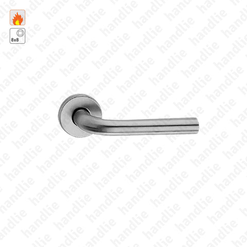 P.IN.78102.CF60.Y - Turning/turning lever handle pair for fire doors - Stainless Steel