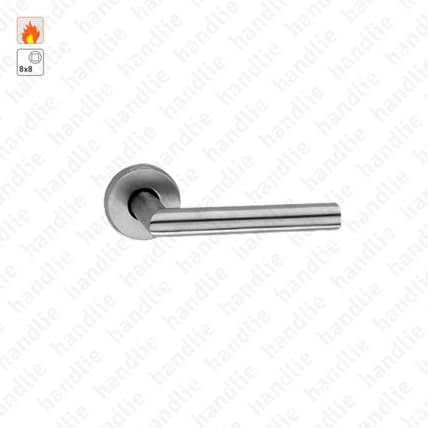 P.IN.78104.CF60.Y - Turning/turning lever handle pair for fire doors - Stainless Steel