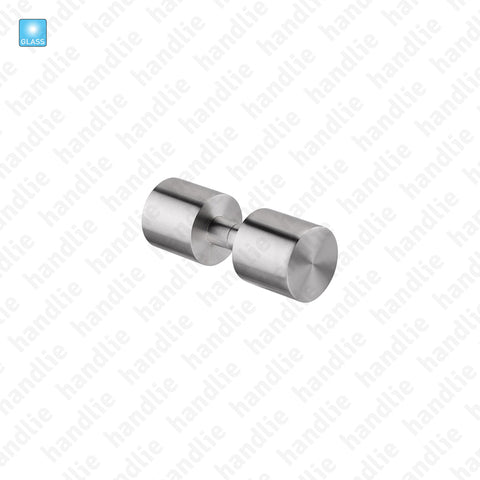 P.IN.8007.V - Fixed handle pair- Glass - Stainless Steel