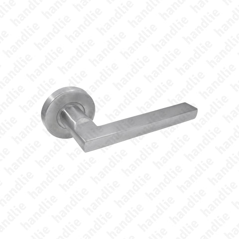 P.IN.8213.A - Solid lever handle pair - Stainless Steel