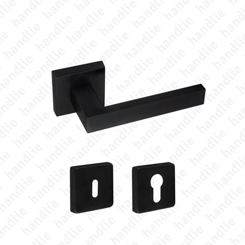 P.IN.8261 - Lever handle pair - Matt Black Stainless Steel