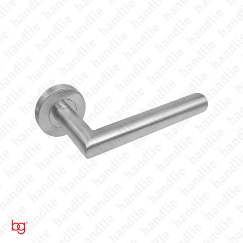 P.IN.98104 - Lever handle pair - Stainless Steel