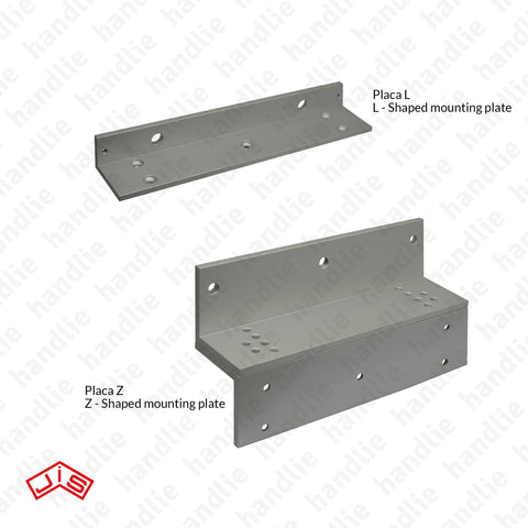 F.PL.1820GL - Mounting plates / brackets for electromagnetic locks for F.1820GL