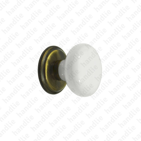 PM.7403 - Furniture knobs - PORCELAIN + BRASS