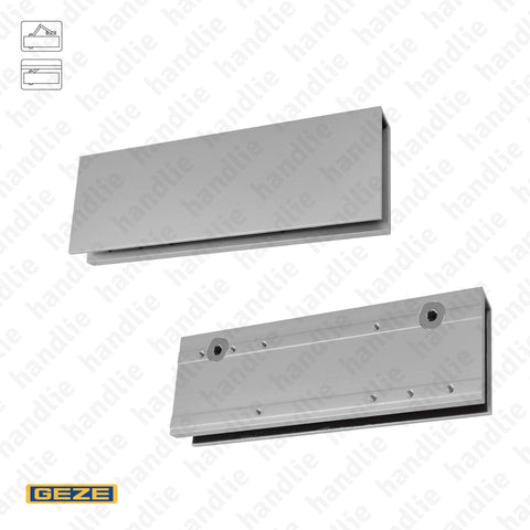 PMV.57126 - Mounting plates for overhead door closers in glass doors | GEZE