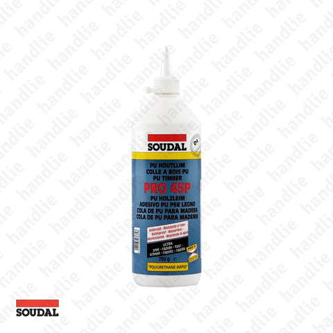 PRO.45.P - SOUDAL - Polyurethane adhesive for wood - Very fast cure - D4