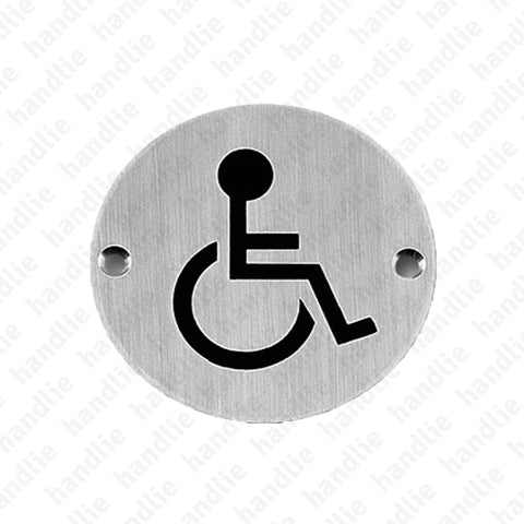 PS.IN.2166 - Sign - Ø75 - Stainless Steel