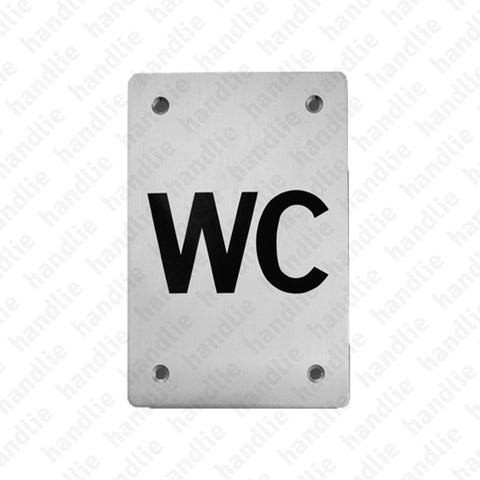 PS.IN.2170 - Sign - 150x100 - Stainless Steel