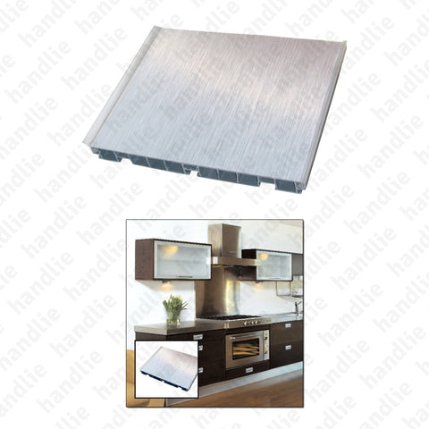 R.201 - Plastic plinth with aluminium coating for kitchen furniture