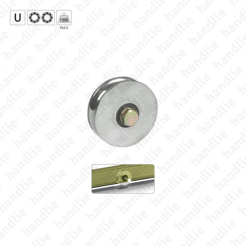 R.363 - U-Groove wheel / 2 bearings
