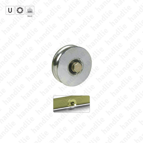 R.964 - U-Groove wheels / 1 bearing- Stainless Steel