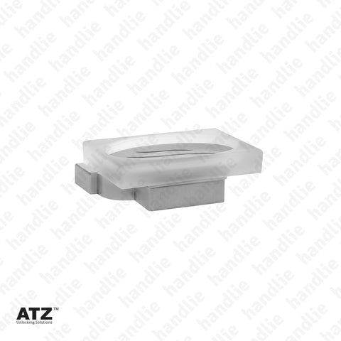 WC.6285 6275 Series - Frosted glass soap dish - Stainless Steel