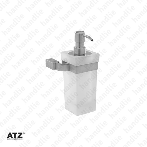 WC.6288 6275 Series - Frosted glass soap dispenser - Stainless Steel