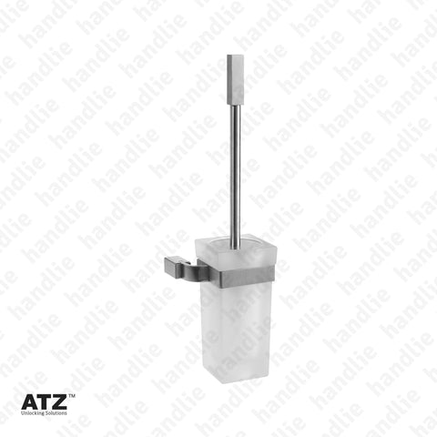 WC.6289 6275 Series - Frosted glass toilet brush holder - Stainless Steel