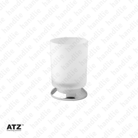 WC.6401 6400 Series - Frosted glass cup with Chrome Base - Stainless Steel