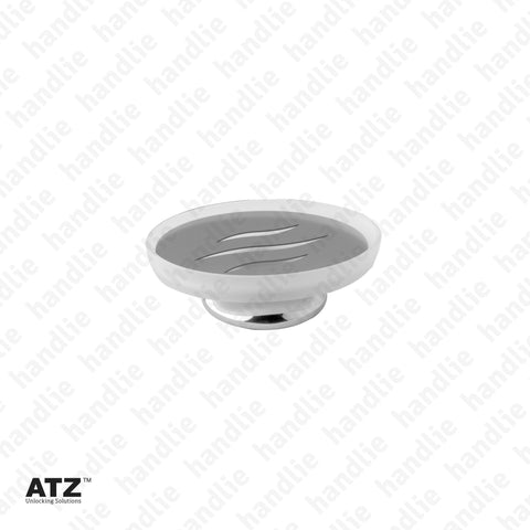 WC.6405 6400 Series - Frosted glass soap dish with Chrome Base - Stainless Steel