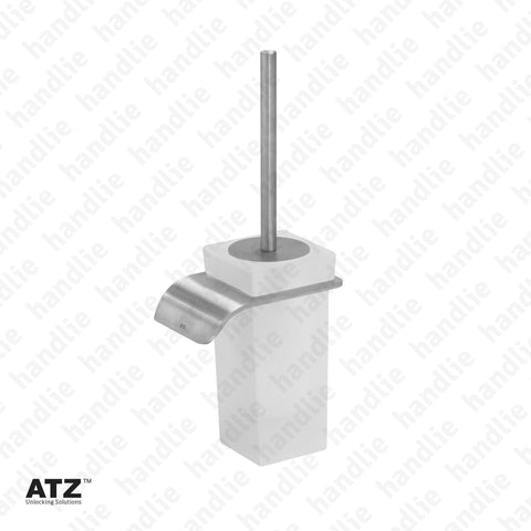 WC.6431 6420 Series - Frosted glass toilet brush holder - Stainless Steel
