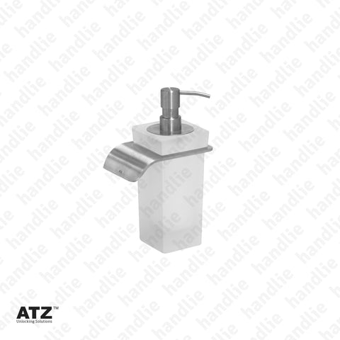 WC.6432 6420 Series - Frosted glass soap dispenser - Stainless Steel
