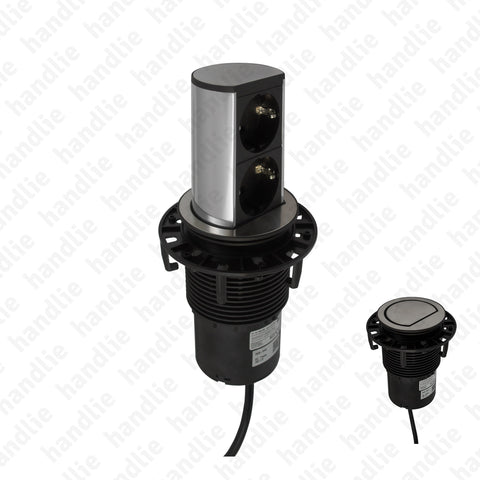 TE.280 - Vertical pop up power outlet