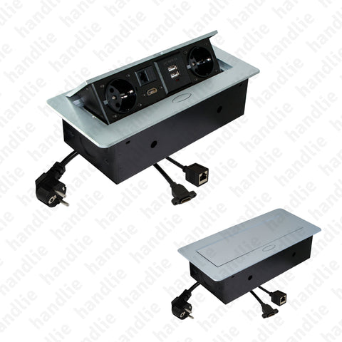 TE.287 - Horizontal pop up power outlet