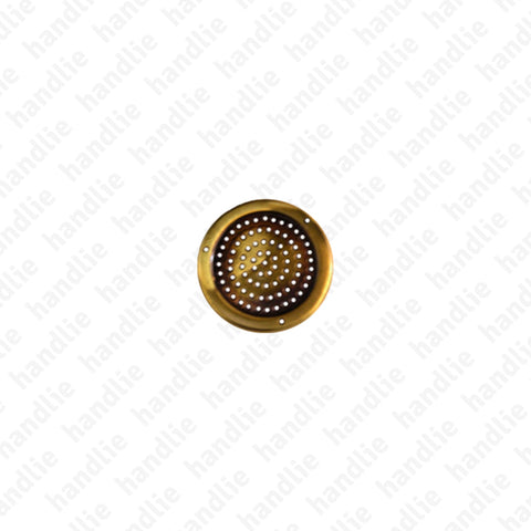 V.13 - Round ventilation grill - Stainless Steel / Brass