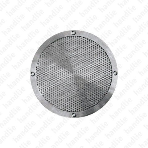 IN.23.028 / IN.23.029 - Round ventilation grill - Stainless Steel