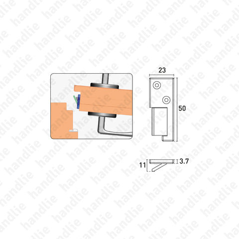 VP.2503 - Door seal activator for pivot doors