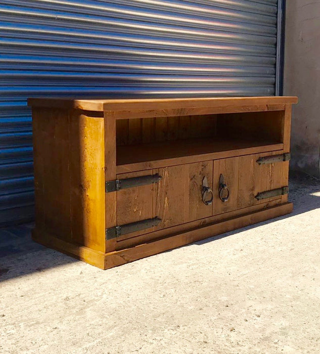 The Authentic Waxed Low Wide Tv Unit
