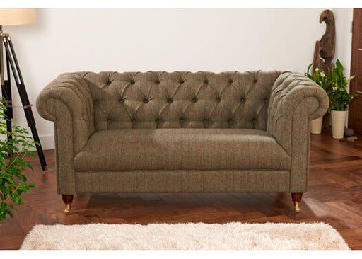 Bamford 2-Seater Harris Tweed Gamekeeper Spruce Chesterfield
