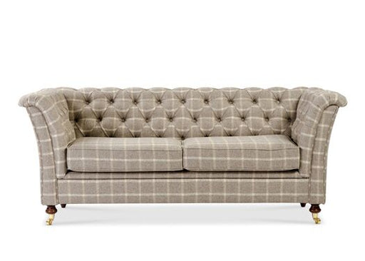 Caesar 2-Seater Moon Wool Reflection Hessian Chesterfield