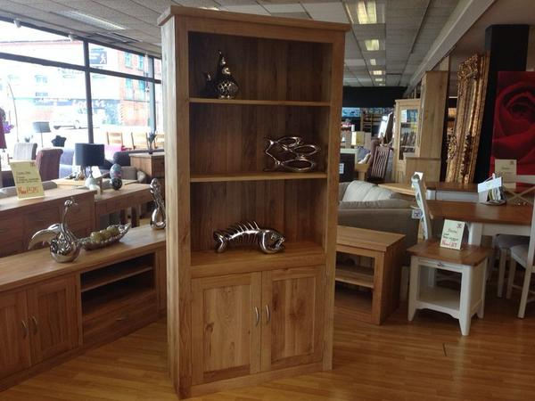 The Quercus Oak Bookcase with Doors