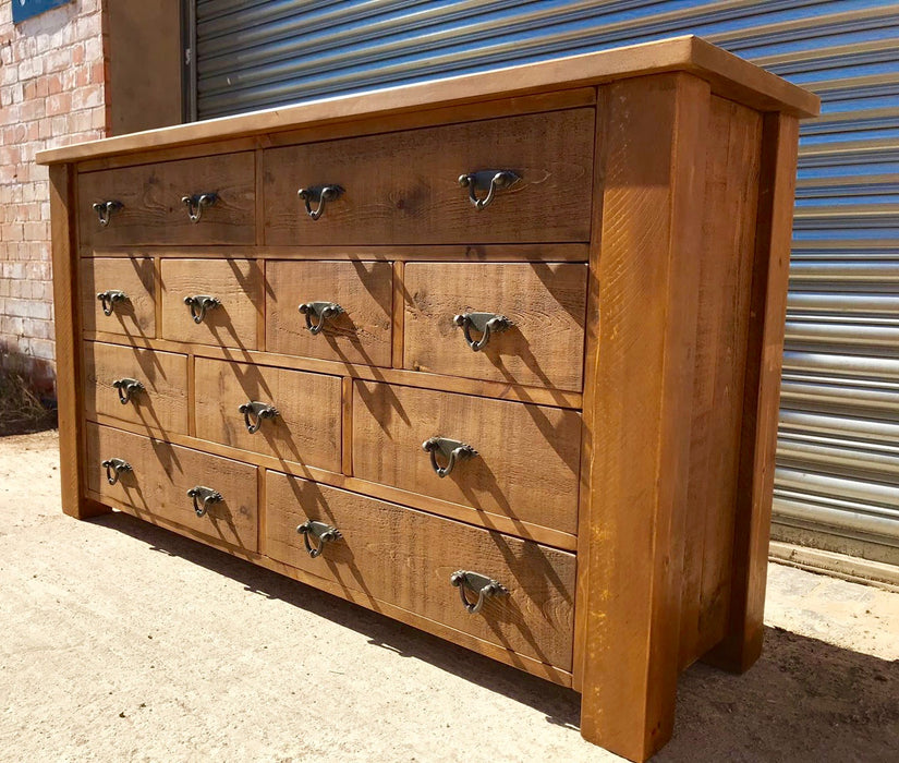 The Authentic Waxed Extra-Large Multi-Drawer Chest