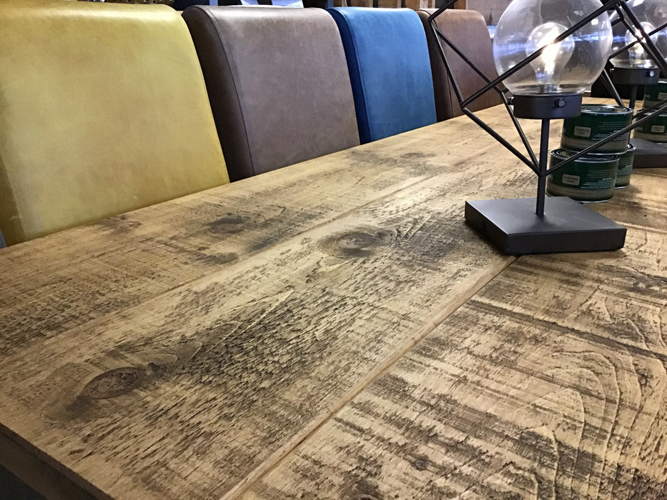 The Authentic Light Waxed 4 Plank Dining Table