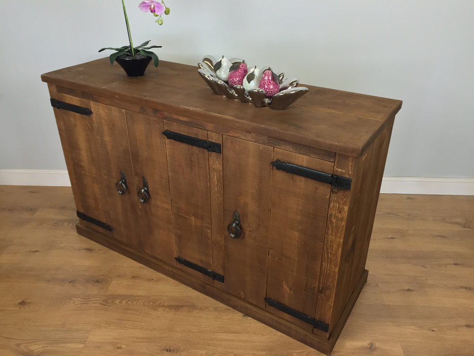 The Authentic Waxed Large Three-Door Sideboard