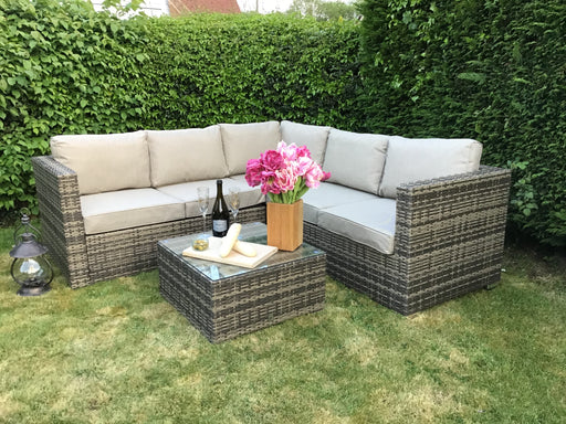 Georgia Corner Group Sofa Set in Natural Weave **RESERVE NOW FOR MAY DELIVERY**