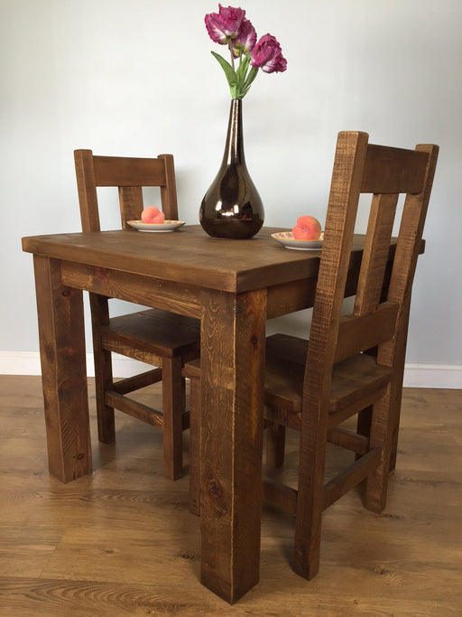 The Authentic Waxed Square Plank Dining Table