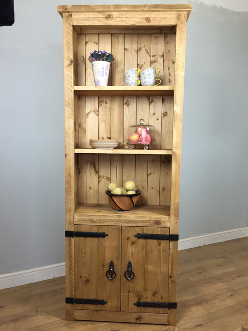 The Authentic Country Waxed Storage Bookcase with Doors