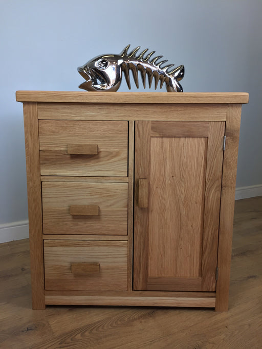 The Quercus Oak Small Rustic Sideboard