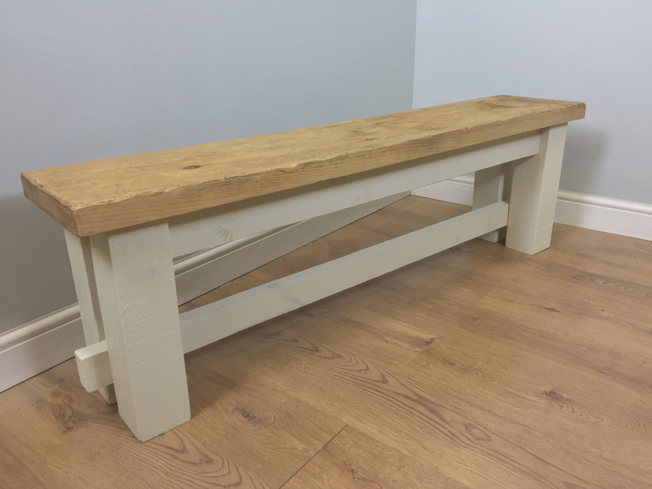 The Artisan Cream Painted Bench