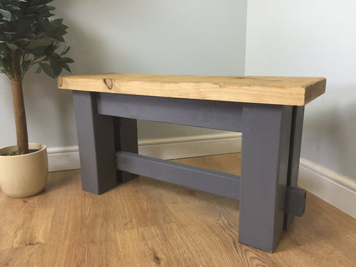 The Artisan Grey Painted Bench