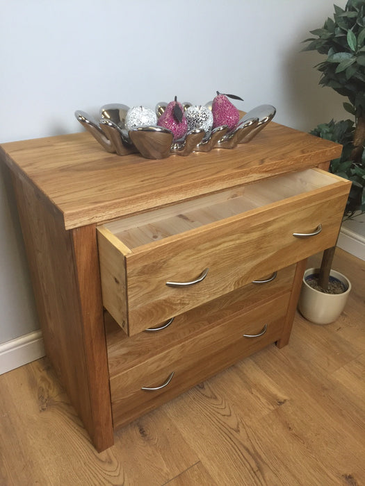 The Quercus Oak Rustic Chest Of Drawers