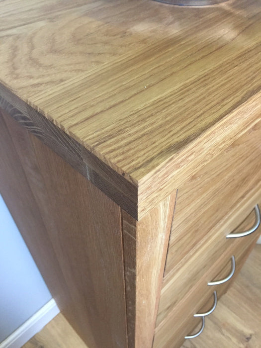 The Quercus Oak Tall Chest Of Drawers