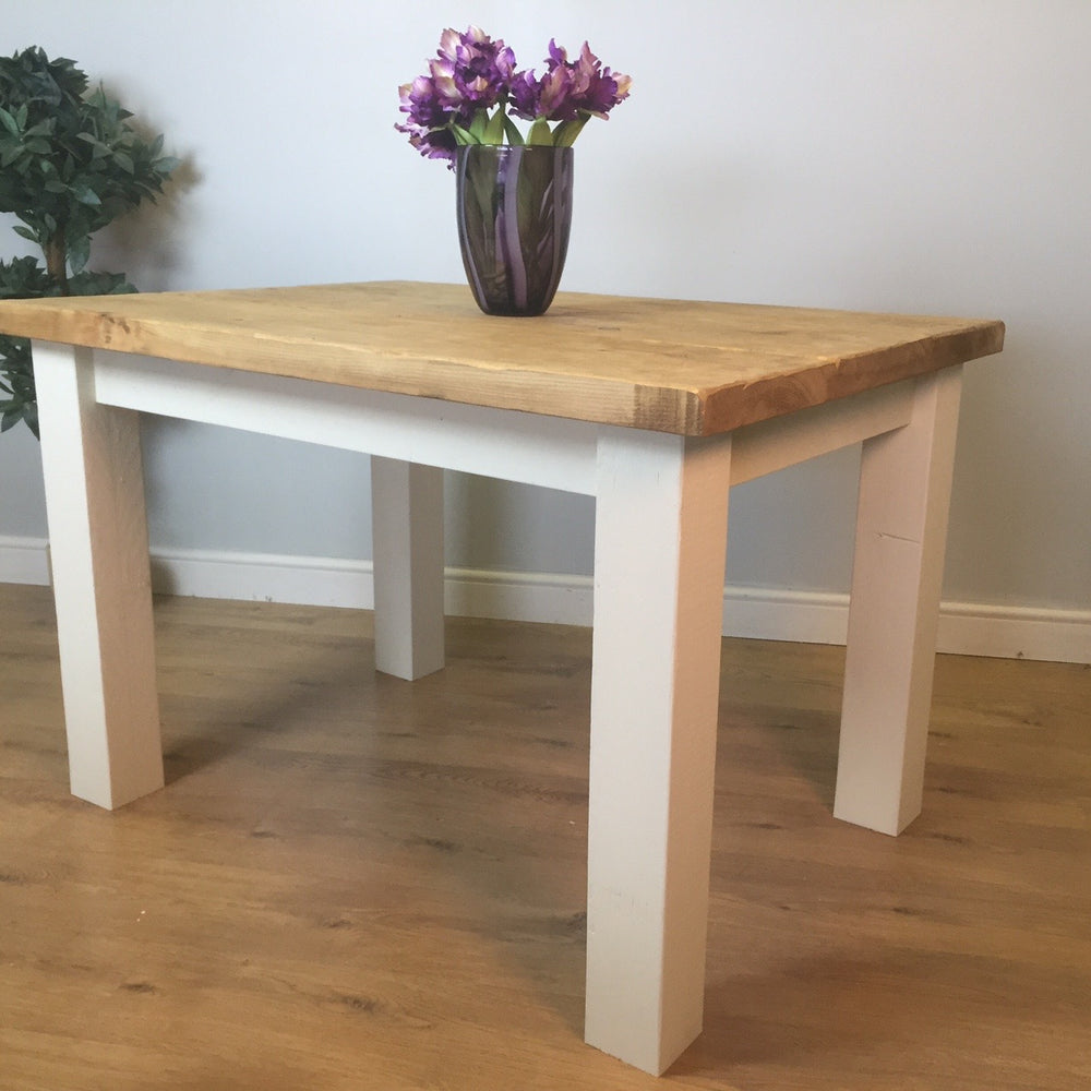 The Artisan Cream Painted Plank Dining Table