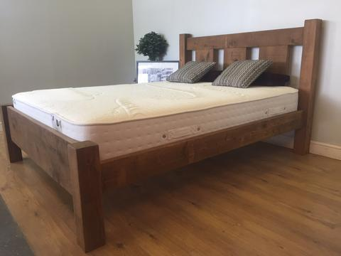 The Authentic Waxed Slat Bed + Hotel Deluxe Mattress