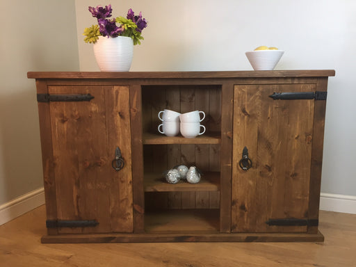 The Authentic Waxed Large Open Sideboard